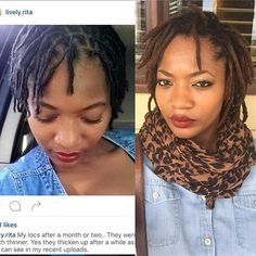 The thickening of my locs is what I like most about my loc transformation. I was…