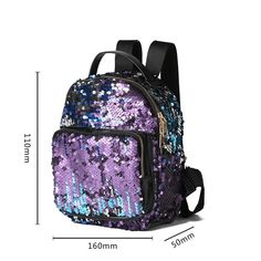 Cheap mochila mujer, Buy Quality glitter backpack directly from China fashion leather backpack Suppliers: Fashion Small Glitter Backpack Women Silver Sequin Daypack 2018 Mini Teenage Girls Black Leather Backpacks mochila mujer Sequin Backpack, Backpack Bags, Fashion Backpack, Travel Backpack, Cute Backpacks, Girl Backpacks, Black Leather Backpack, Leather Backpacks, Bling Bling