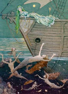 vintagegal:  Boris Diodorov - Illustration for The Little Mermaid by Hans Christian Andersen (via)