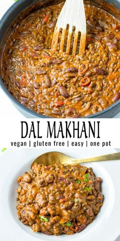 This Dal Makhani is a simple one pot meal and made with a spice mix which makes this dish so delicious. It is ready in 30 minutes and will be a favorite in no time that the whole family will love. dinne Dal Makhani [vegan, one pot] - Contentedness Cooking Vegan Dinner Recipes, Vegan Recipes Easy, Indian Food Recipes, Whole Food Recipes, Cooking Recipes, Ethnic Recipes, Vegetarian One Pot Meals, Dinner Healthy, Simple Vegan Meals