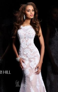 Cap Sleeved Open Back Gown by Sherri Hill 21028
