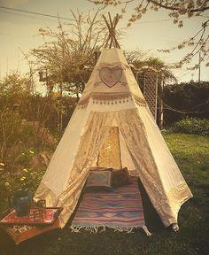 backyard teepee -cute idea