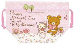 Nyanko Rilakkuma with Friends KINCHAKU – Bento Box Bag $7.50 http://thingsfromjapan.net/nyanko-rilakkuma-with-friends-kinchaku-bento-box-bag/ #rilakkuma bento bag #san x product #kawaii Japanese stuff