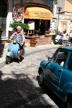 You're never to old to Vespa!