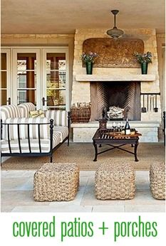 creating a stylish covered patio or porch