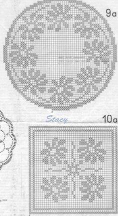 Crochet Dollies, Crochet Doily Patterns, Crochet Mandala, Crochet Motif, Crochet Designs, Crochet Curtains, Crochet Tablecloth, Cross Stitch Rose, Cross Stitch Flowers