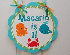 Under the Sea Birthday Party Decorations Set of 9 by DesignsByDodi
