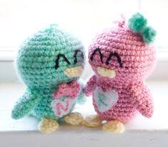 Crochet Love Birds Custom Valentine's Day by TheFadedWildflower