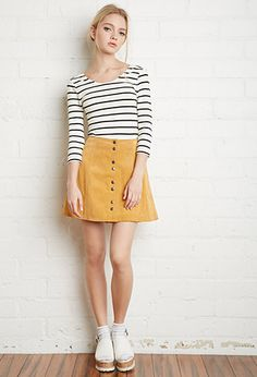 Striped Stretch Knit Top | Forever 21 - 2000096635