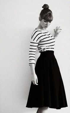 This Skirt!!!  Love it, and it looks so cute with the striped top!