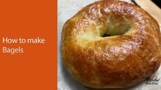 How to make bagels UK : Traditional bagel recipe : Best bagel recipe :Ba... Bun Recipe, Rolls Recipe, Sweet Breakfast, Breakfast Recipes, How To Make Bagels, Making Sourdough Bread, Best Bagels, Baking Videos