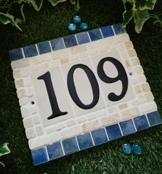 [New] The 10 Best Craft Ideas Today (with Pictures) - .I love the colours and textures in this plaque. I used a resin glaze on the numbers which lift them slightly and also gives them a nice enamaled look. Mosaic Crafts, Mosaic Art, Picnic Blanket, Outdoor Blanket, House Numbers, Craft Art, Craft Ideas, Fun Crafts, Colours