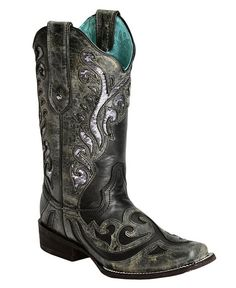 Corral Silver Sequin Inlay  - Square Toe. My new boots! Super comfy.