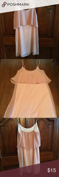 Dress from Apricot Lane Boutique Lined. Size small. Adjustable straps. Nude and coral colored Dresses Mini