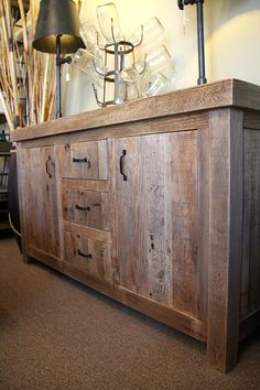 1000 images about sideboards on pinterest rustic barn for Los angeles reclaimed wood
