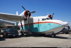 Grumman HU-16D Albatross. Pictured parked up at Chino although she belongs to the Heritage of Eagles Air Museum.  Chino (CNO) USA - California, July 24, 2013