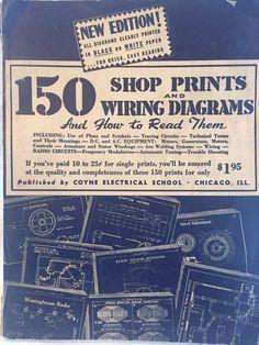 Coyne Electrical School 1946 Shop Prints Radio Men Electrician Reference Vintage #Coyne