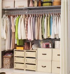 I wish mine was this organized.  I guess I need to rid myself of a few hanging items...