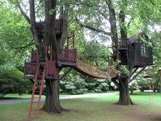 cabane dans les arbres pour enfants pont suspendu #garden #jardin #exterior #design