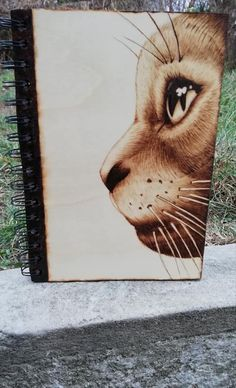 Pyrography, Art Work, Etsy Seller, Handmade Items, Notebook, Kitty, Decoration, Wood, Creative