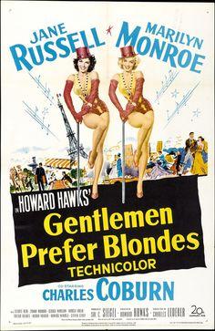 """Gentlemen Prefer Blondes (1953) -- 120 Films Every """"Gossip Girl"""" Fan Must Watch"""
