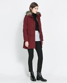 Image 1 of HOODED COTTON PARKA from Zara £109