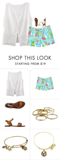 """I want a little bit of California, with a little bit of London sky"" by meganjoleen ❤ liked on Polyvore featuring Lilly Pulitzer, Steve Madden, Kendra Scott and Alex and Ani"