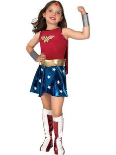 Deluxe Wonder Woman Childrens Costume - Wonder Woman Party Costumes     Birthday In A Box, $23.99