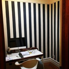 DIY Project Idea: Painted Black  White Striped Walls — Color Therapy