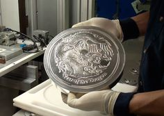 "Impressive 10 Kilo ""Year of the Rabbit"" Silver Bullion Coin (video)."
