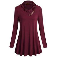 Poulax Women's Cotton Knitted Long Sleeve Lightweight Tunic Sweatshirt Tops Multi S