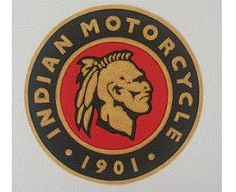 Indian 10 inch synthetic leather 1901 back patch
