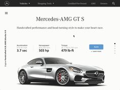 MB USA Concept designed by Stan Rapp. Connect with them on Dribbble; User Interface Design, Ui Ux Design, One Design, Mercedes Amg Gt S, Web Inspiration, Interactive Design, Concept, Marketing Websites, Digital