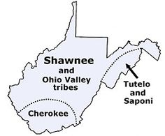 West Virginia tribes in the past