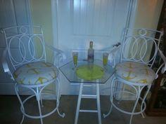Yellow anchor iron stools