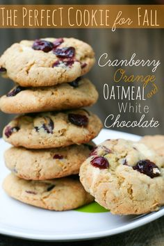 Cranberry Oatmeal Cookies with White Chocolate :: Blooming on Bainbridge