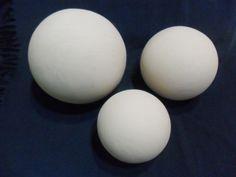 Fabulous Esferas chica mediana y grande realizada con arcilla y horneadas