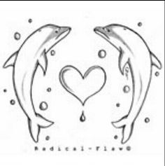 how to draw love dolphins, dolphin heart step 10 ...