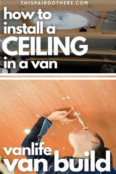 When converting a van, installing a ceiling is one of the first major jobs that really transforms the look of your van. Surprisingly, building an internal van roof is one of the easier van conversion jobs. This step-by-step guide walks you through the process - From installing the supporting beams to cladding them. Accompanied with detailed diagrams and photos to help your understanding. This plywood ceiling provides a modern, sleek finish. Vanlife | Vanlife conversion ideas | Van interior | Artery Cleanse, Plywood Ceiling, Rv Mods, Diy Projects Cans, Diy Rv, Cool Campers, Campervan Interior, Class B, Van Camping