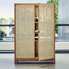 """Armoire collection """"Stockholm"""" from IKEA . Wardrobe Furniture, Cane Furniture, Rattan Furniture, Furniture Decor, Furniture Design, Ikea Stockholm, Stockholm 2017, Armoire, Home Furniture"""