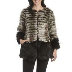 Stay warm and cozy this winter with this faux fur coat!