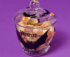 Glass Painting - DIY Vampire Vittles Candy Jar