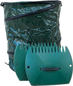 Garden Leaf Scoops and 30 Gallon Leaf Bag Faster Yard Cleanup Removal of Grass and Leaves * More info could be found at the image url.