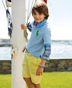 Ralph Lauren Kids Separates, Boys Polo Shirt, Long-Sleeved Shirt and Prospect Shorts