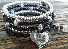 Hey, I found this really awesome Etsy listing at https://www.etsy.com/listing/274562026/los-angeles-kings-bracelet