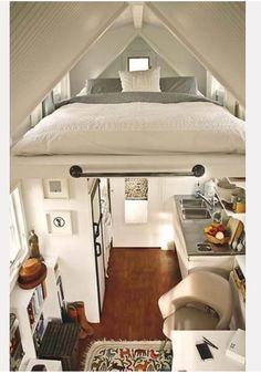 tiny houses. Open and clean. Everything has it's place. Perfection.