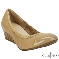 Cole Haan Milly Round Toe Patent Wedge #VonMaur #ColeHaan #Nude