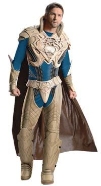 This Deluxe Mens Jor-El costume from the Superman movie includes the muscle chest jumpsuit with attached boot tops, the cape, and the molded belt. This costume would go great with a Faora Costume for a fun couples costume look! Jor-El is Superman's father - http://deals-n-steals.info/coupon/deluxe-jor-el-man-of-steel-adult-costume/