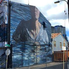 """Completed mural from @freddysam_ for #powwowhawaii  @powwowworldwide is supported by @rvca @montanacans @flexfit @hawaiianairlines @modernhonolulu @1xrun…"""