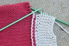 Tutorial - border edge join - knitting